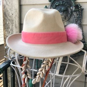 San Diego Hat Company Accessories - FELT FEDORA w POM POM EMBELLISHMENT